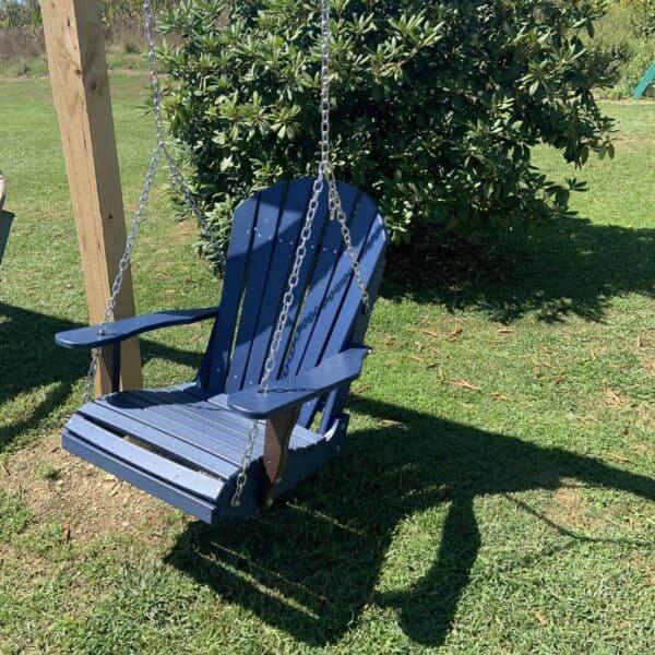 Single Seat Slat Back Swing