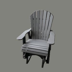 single fanback glider chair